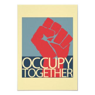 Besetzen Sie zusammen Protest-Kunst-Occupy Wall 8,9 X 12,7 Cm Einladungskarte