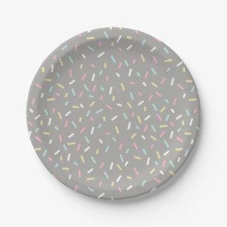 Besprühen Sie die Party-Platte (grau) Pappteller