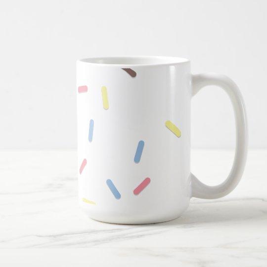 Besprühen Sie vom Zucker Kaffeetasse