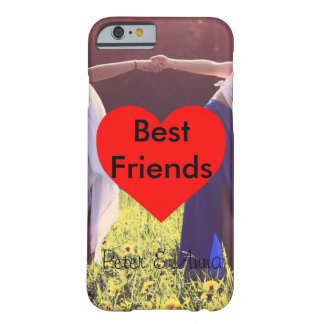 Best Friends Herz Hintergrund Barely There iPhone 6 Hülle