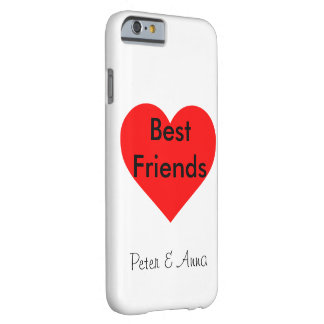 Best Friends Herz Personalisierbar Barely There iPhone 6 Hülle