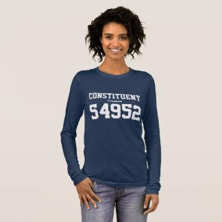 """Bestandteil von """"Ihre Postleitzahl"""" politischem Langarm T-Shirt"""