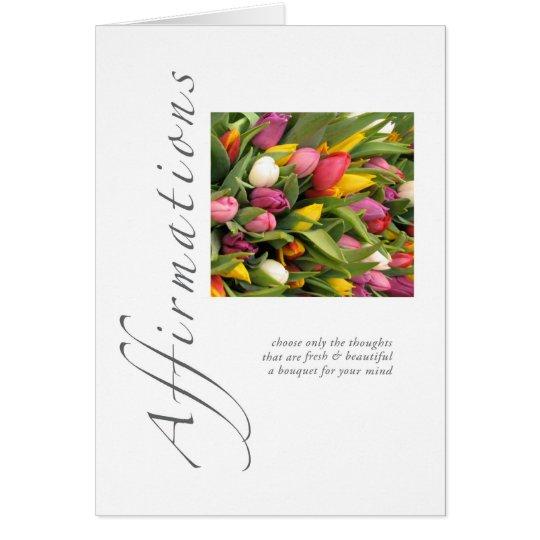 Bestätigungs-Tulpen Grußkarte