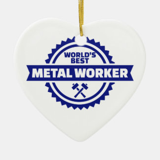 Beste Arbeitskraft der Welt Metall Keramik Herz-Ornament