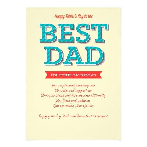 Beste der Vatertags-Karte Vati- Individuelle Ankündigskarten