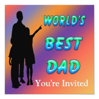 Beste der Vati-Einladung der Welt Quadratische 13,3 Cm Einladungskarte