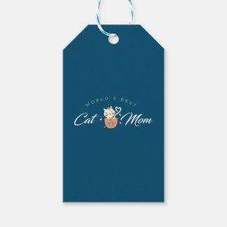Beste die Katzen-Mamma der Welt für Geschenkanhänger