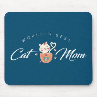 Beste die Katzen-Mamma der Welt für Mauspad