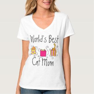 Beste die Katzen-Mamma der Welt T-Shirt