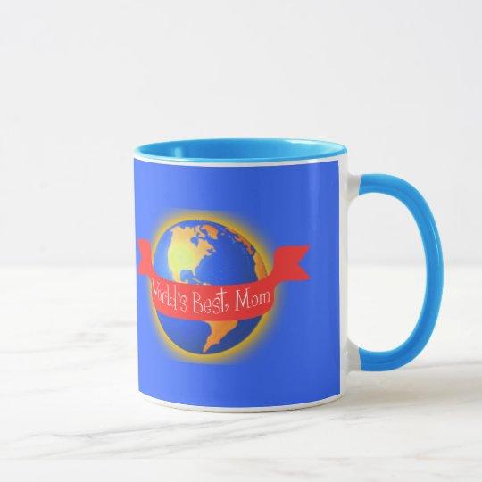 Beste die Mamma-Tasse der Welt, helle Farbkugel Tasse