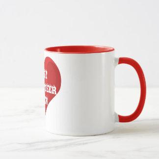 Beste Freiwillig-überhaupt rote Herz-Liebe-Tasse Tasse