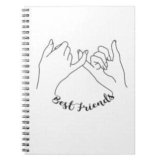 Beste Freund-Notizbuch Spiral Notizblock