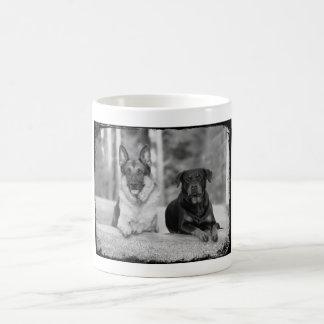 Beste Freund-Schäferhund u. Rottweiler HundeTasse Kaffeetasse