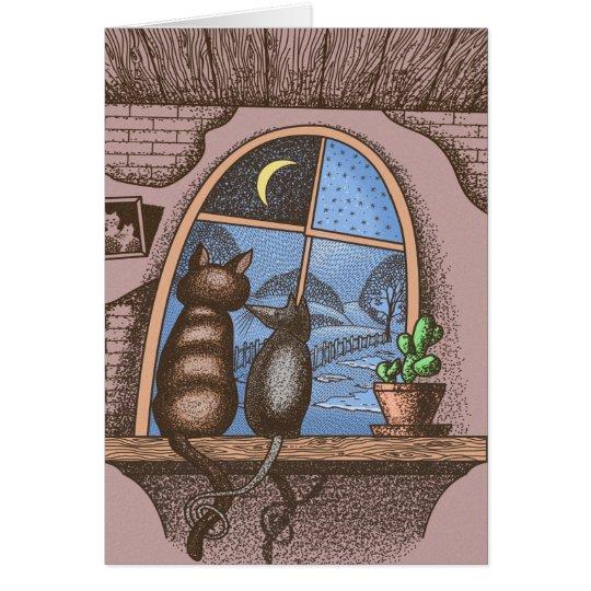 Beste Freunde für immer, Katze und Maus, Grußkarte
