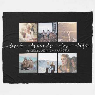 Beste Freunde für Leben Instagram Foto-Typografie Fleecedecke