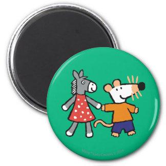 Beste Freunde Maisy und Dotty Griff-Hände Runder Magnet 5,1 Cm