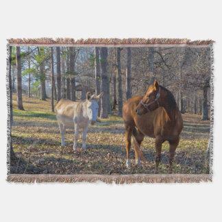 Beste Freunde Pferd und Esel-Wurfs-Decke Decke