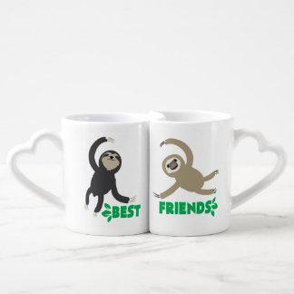 Beste Freundesloth-Tassen-Set Liebestasse