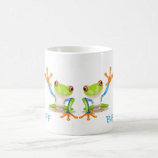 BESTE FREUNDIN beste Freund-für immer Frosch-weiße Kaffeetasse