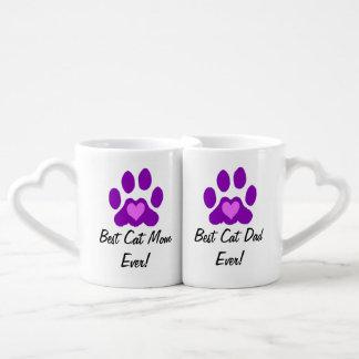 Beste Katzen-Mamma und Vati Paartasse