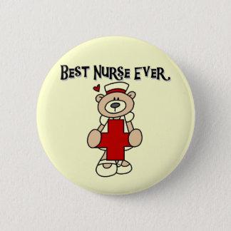 Beste Krankenschwester-überhaupt T - Shirts und Runder Button 5,7 Cm