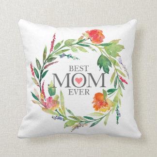 Beste Mamma-Überhaupt-Bunter BlumenWreath Kissen