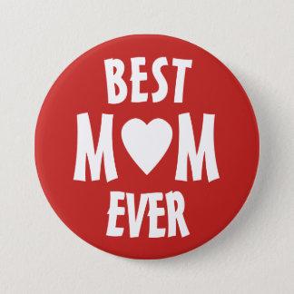 Beste Mamma überhaupt rot und weißes Pinback