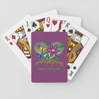 Beste Oma-Schönheit und Anmut Spielkarten