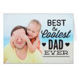 Beste und coolste der Vatertags-Foto-Karte Vati-üb