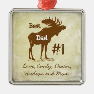 Beste Vater-Elch-Preis-Verzierungen Silbernes Ornament