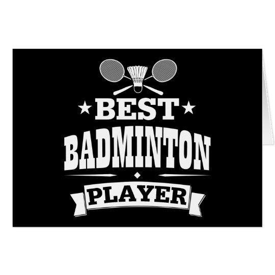Bester Badminton-Spieler Grußkarte