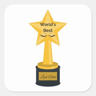 Bester die Peitschen-Künstler der Welt! Quadratischer Aufkleber