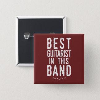 Bester Gitarrist (möglicherweise) (weiß) Quadratischer Button 5,1 Cm