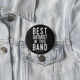 Bester Gitarrist (möglicherweise) (weiß) Runder Button 7,6 Cm