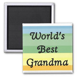 bester Großmuttermagnet der Welt Quadratischer Magnet