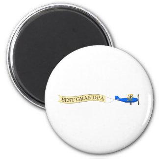 Bester Großvater-Magnet Runder Magnet 5,7 Cm