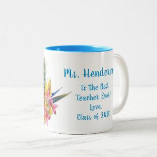 Bester Lehrer Klassen-von der hawaiischen Zweifarbige Tasse