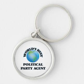 Bester politischer das Party-Agent der Welt Schlüsselanhänger