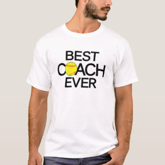 Bester Softball-Trainer-überhaupt freier Raum T-Shirt