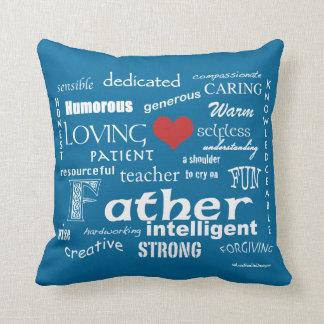 Bester Vater-Attribut-Rotes Herz/personifizieren Kissen