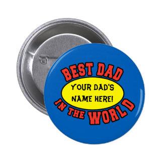 Bester Vati in der Welt fertigen den Vatertag Runder Button 5,1 Cm