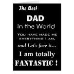 Bester Vati in der Weltlustigen Vater-Karte