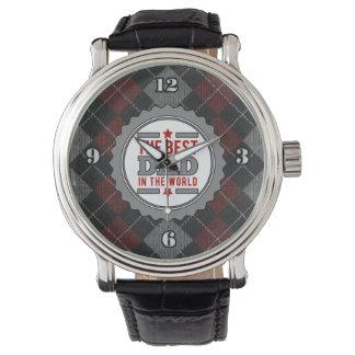 Bester Vati in der WeltRaute gemustert Uhr