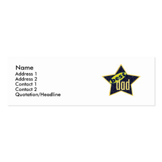 Bester Vati-Stern 2 - dünn Visitenkarten