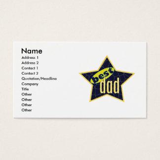 Bester Vati-Stern 2 - Geschäft Visitenkarten