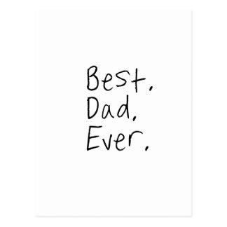 Bester Vati überhaupt. Vatertagsgeschenk Postkarten