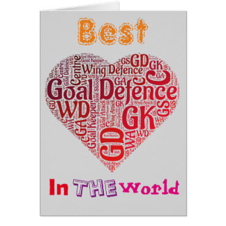 Bester Ziel-Verteidigungs-LiebeNetball Karte
