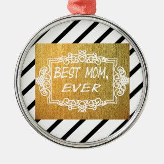 Bestes Geschenk der Tag der Mamma-überhaupt Mutter Silbernes Ornament