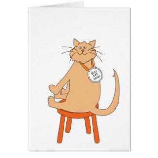 Bestes Katzen-Modell Grußkarte