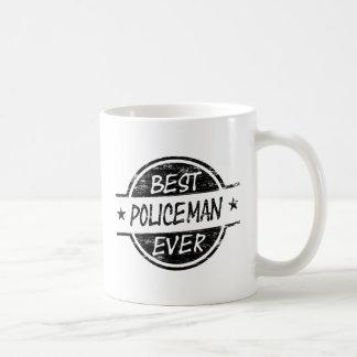 Bestes Polizist-überhaupt Schwarzes Kaffeetasse
